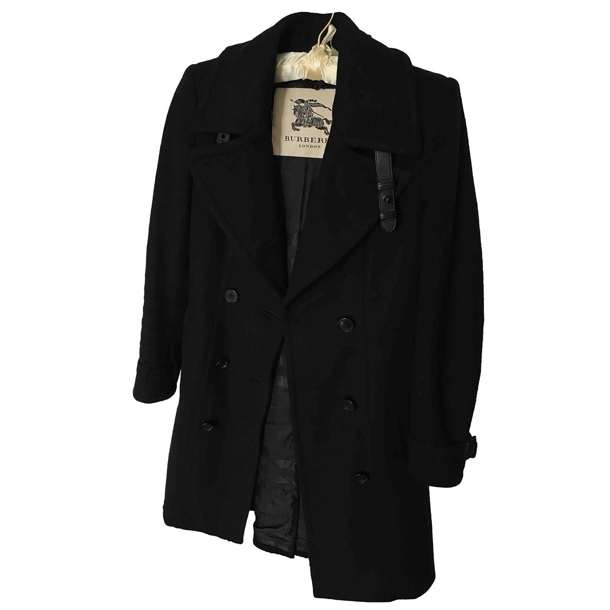 Burberry \N Black Wool coat for Women 34 FR