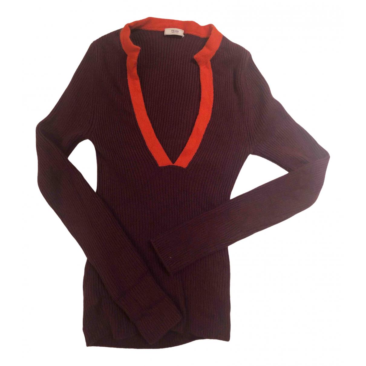 Prada N Burgundy Cashmere Knitwear for Women 40 IT
