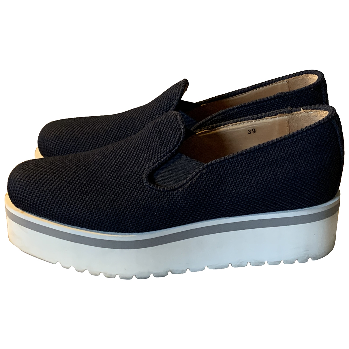 Dondup \N Blue Leather Flats for Women 39 EU