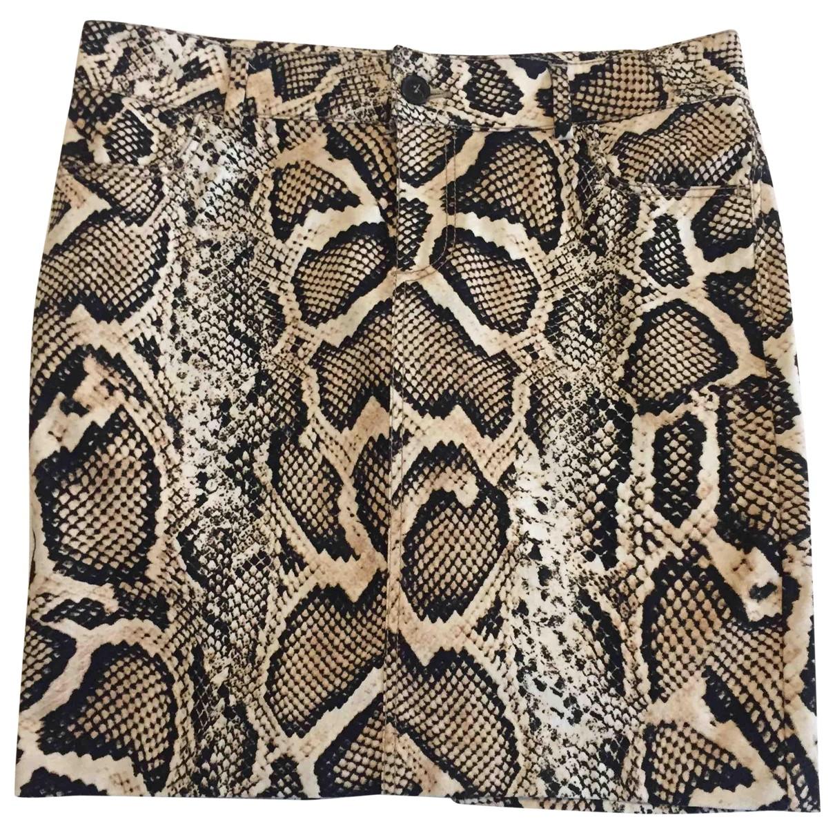 Zara \N Multicolour Cotton - elasthane skirt for Women S International