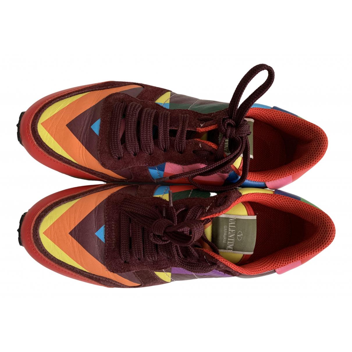 Valentino Garavani Rockrunner Sneakers in Leder