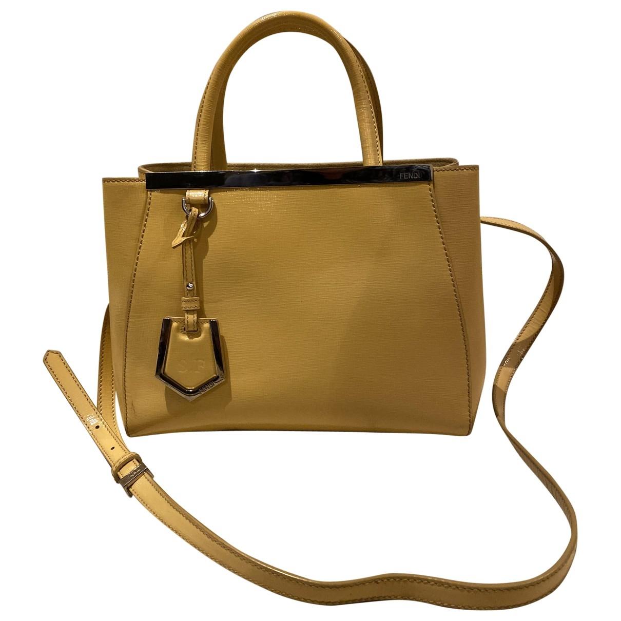 Fendi 2Jours Handtasche in  Gelb Leder