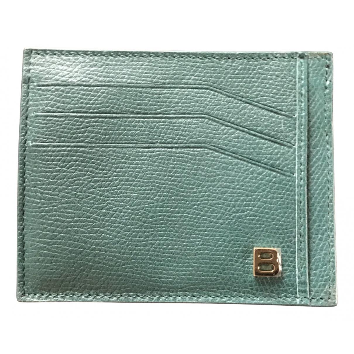 Balenciaga - Petite maroquinerie   pour homme en cuir - vert