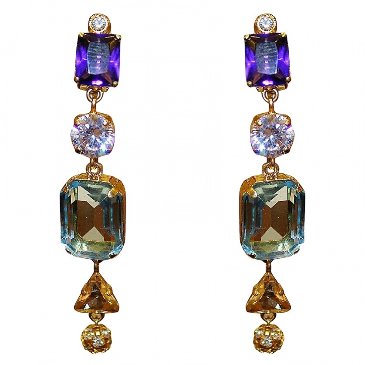 Carlo Zini \N Metallic Metal Earrings for Women \N