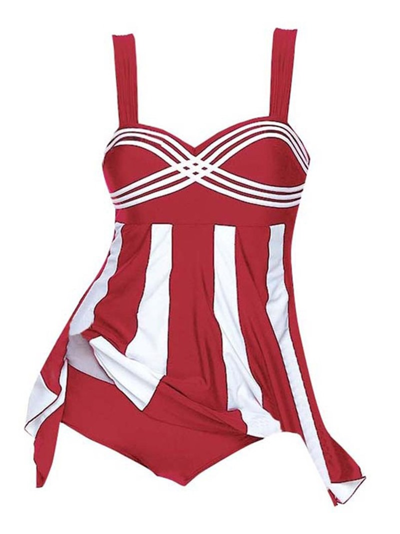 Ericdress Color Block Striped One Piece Sexy 3D Monokini