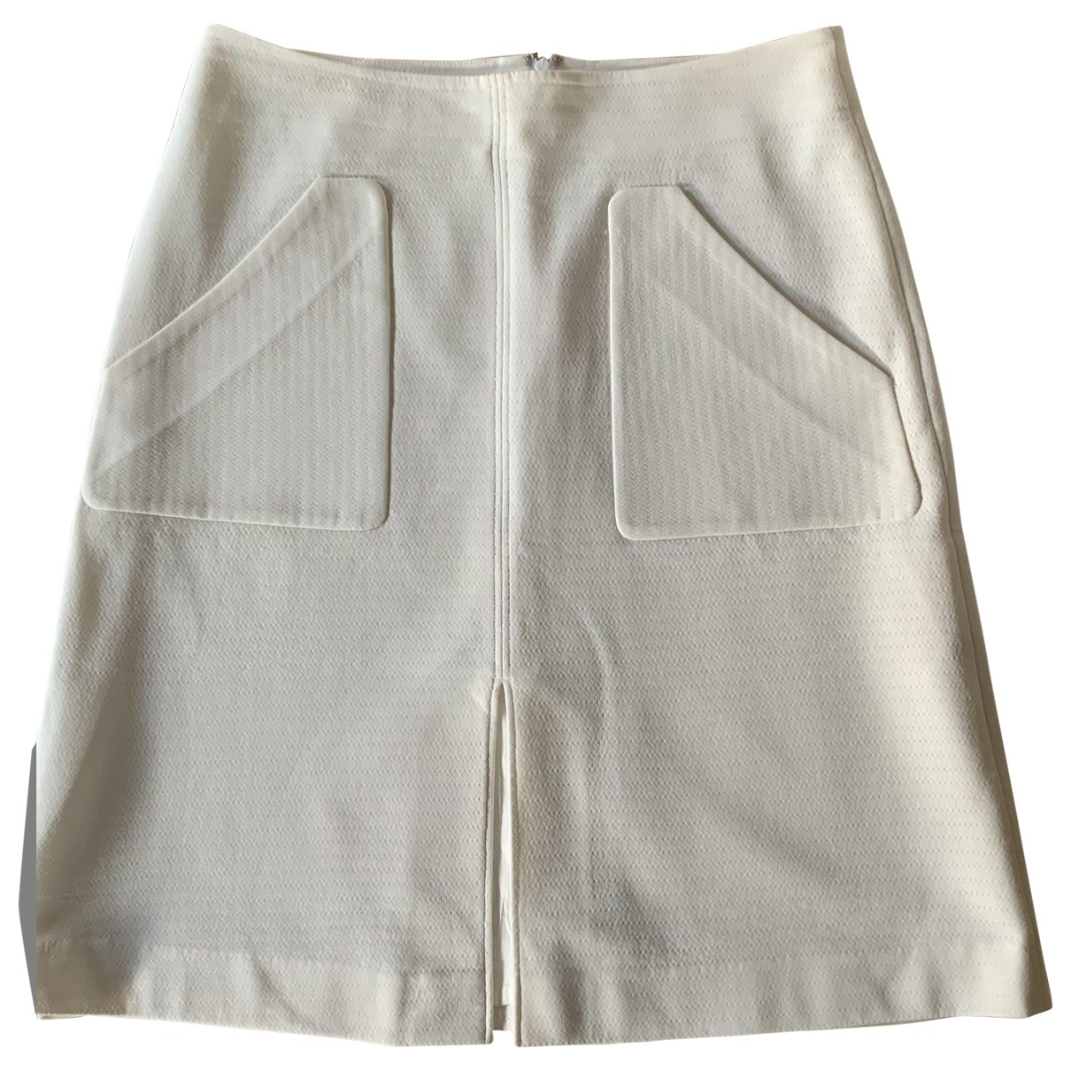 Paul Smith \N White Cotton - elasthane skirt for Women 46 IT