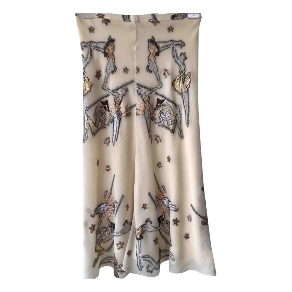 Hermès N Ecru Silk dress for Women 36 FR