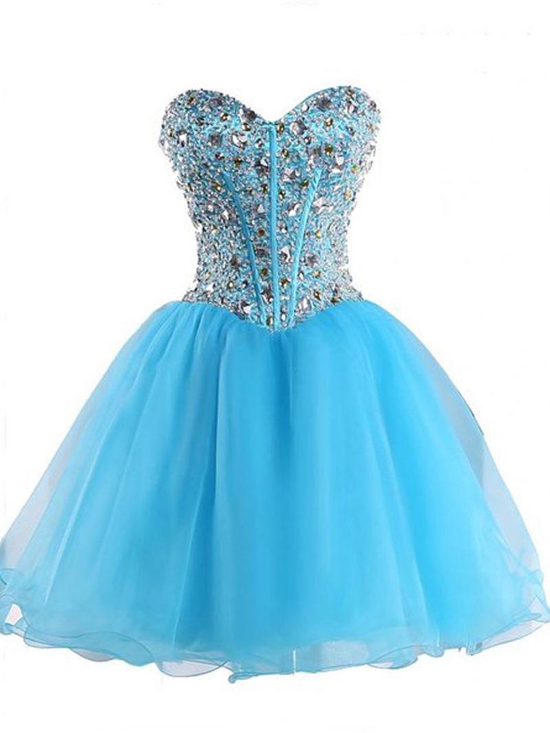 Ericdress Glamorous Sweetheart A-Line Beaded Short Homecoming Dress