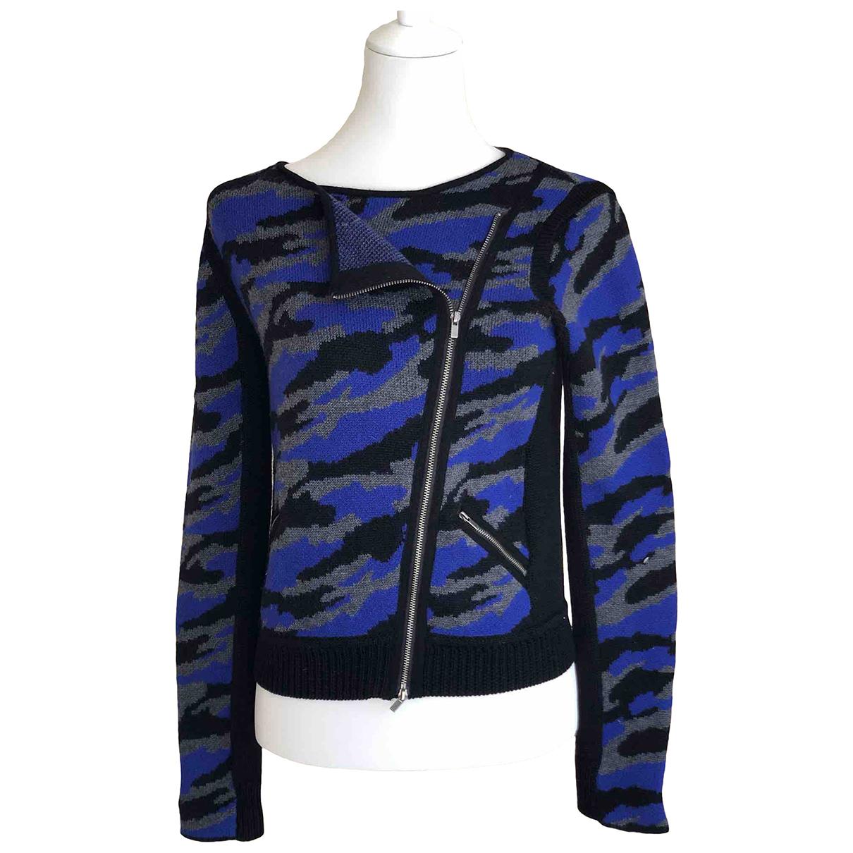 Diane Von Furstenberg - Pull   pour femme en laine - bleu