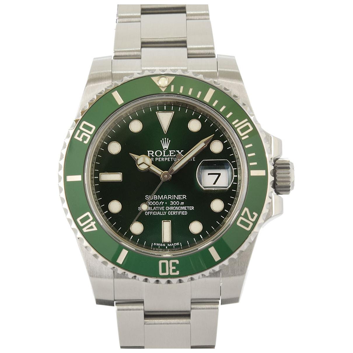 Rolex Submariner Uhr in  Gruen Stahl