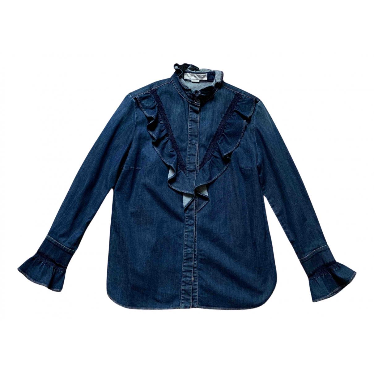 Stella Mccartney - Top   pour femme en denim - bleu