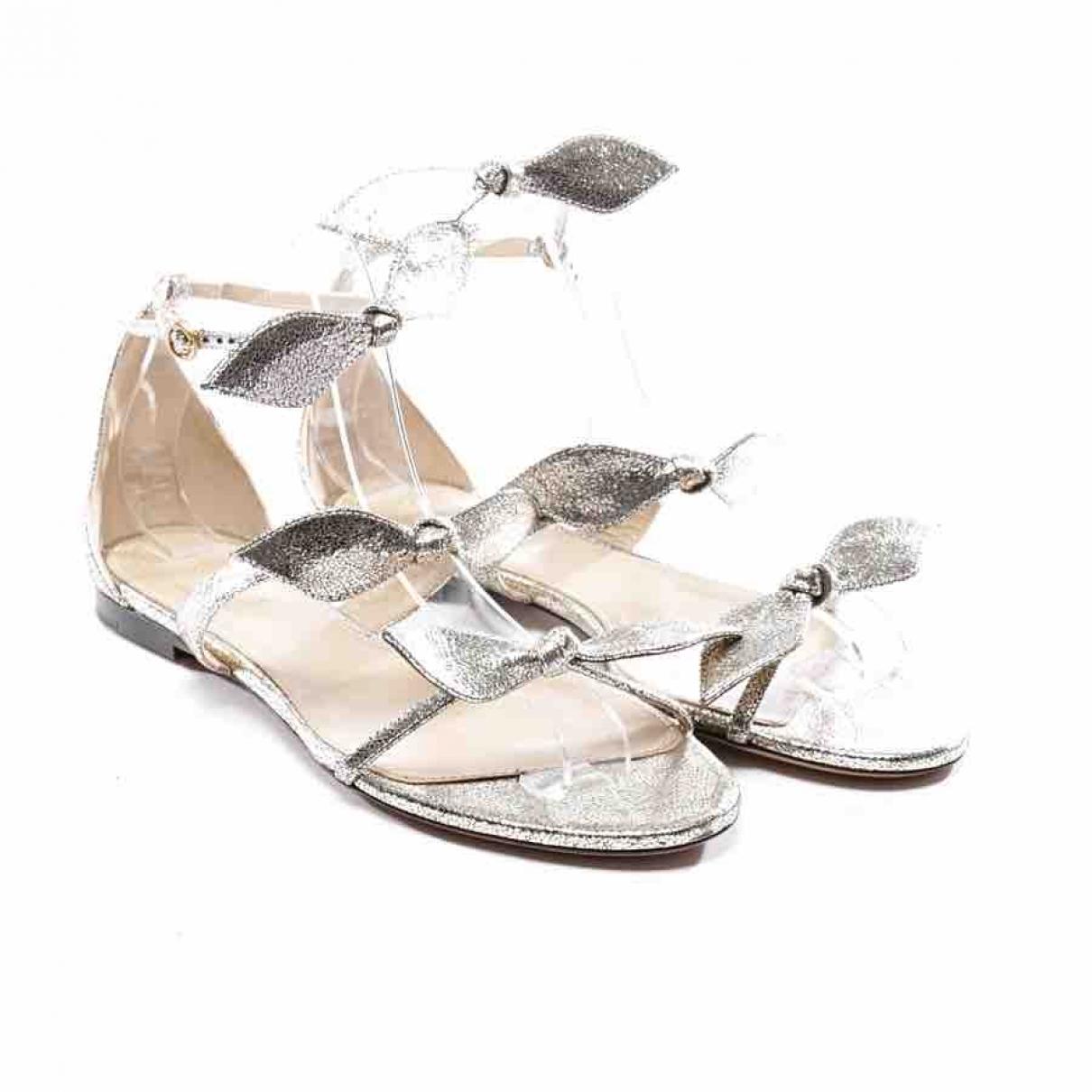 Chloe \N Sandalen in  Silber Leder