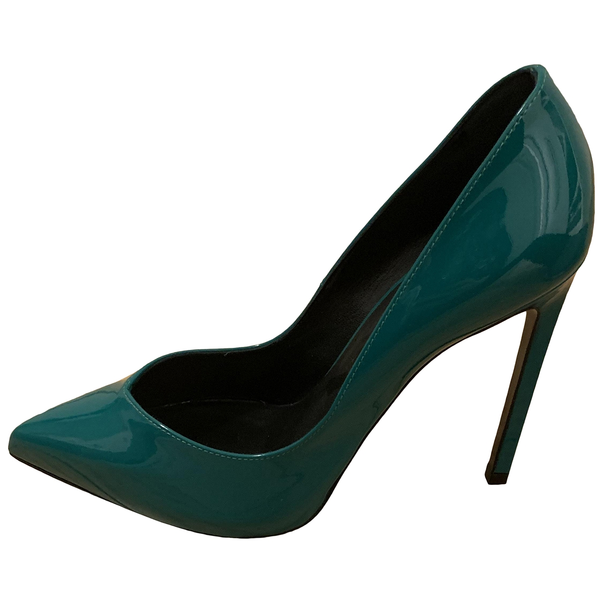 Saint Laurent \N Pumps in  Gruen Lackleder