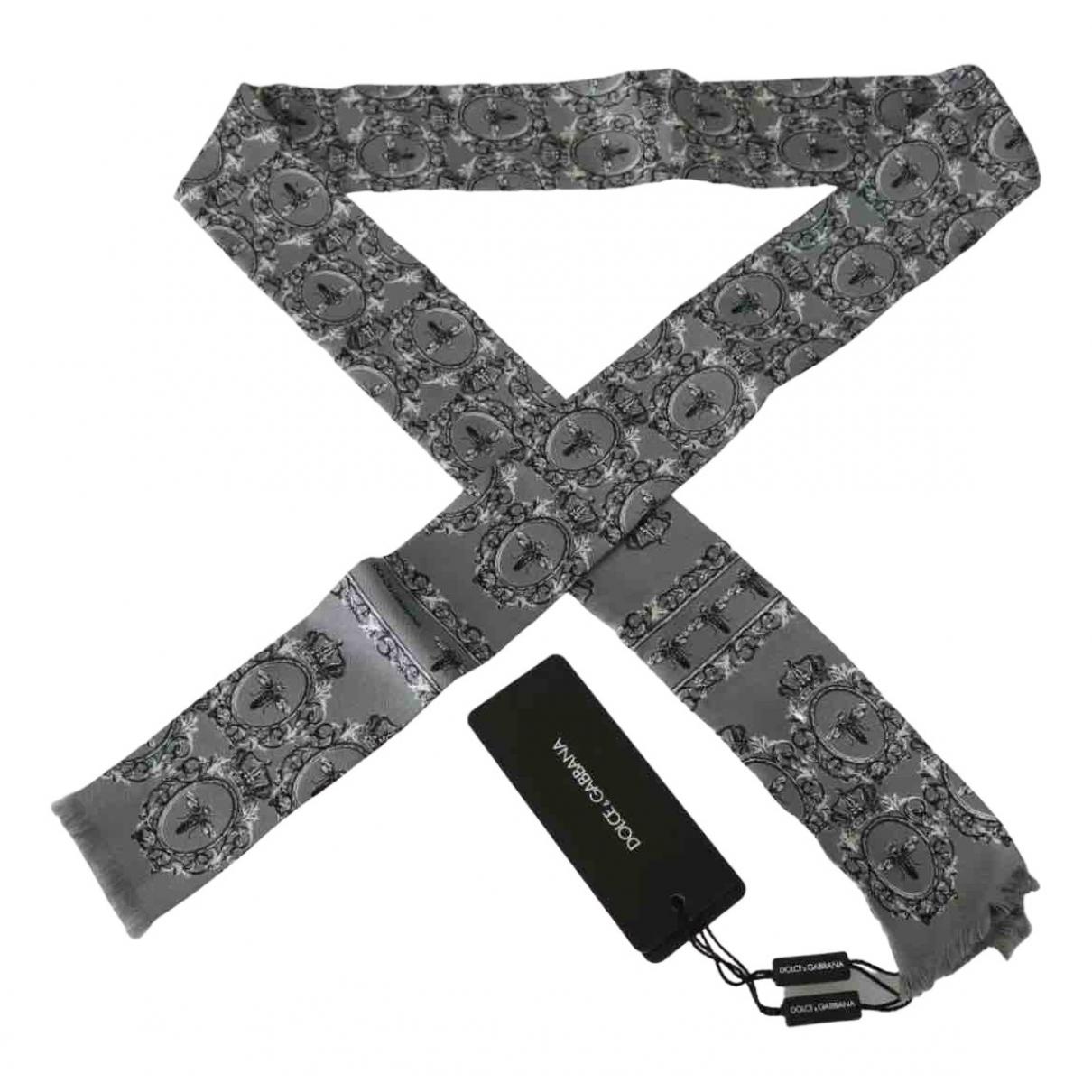 Dolce & Gabbana \N Tuecher, Schal in  Grau Seide