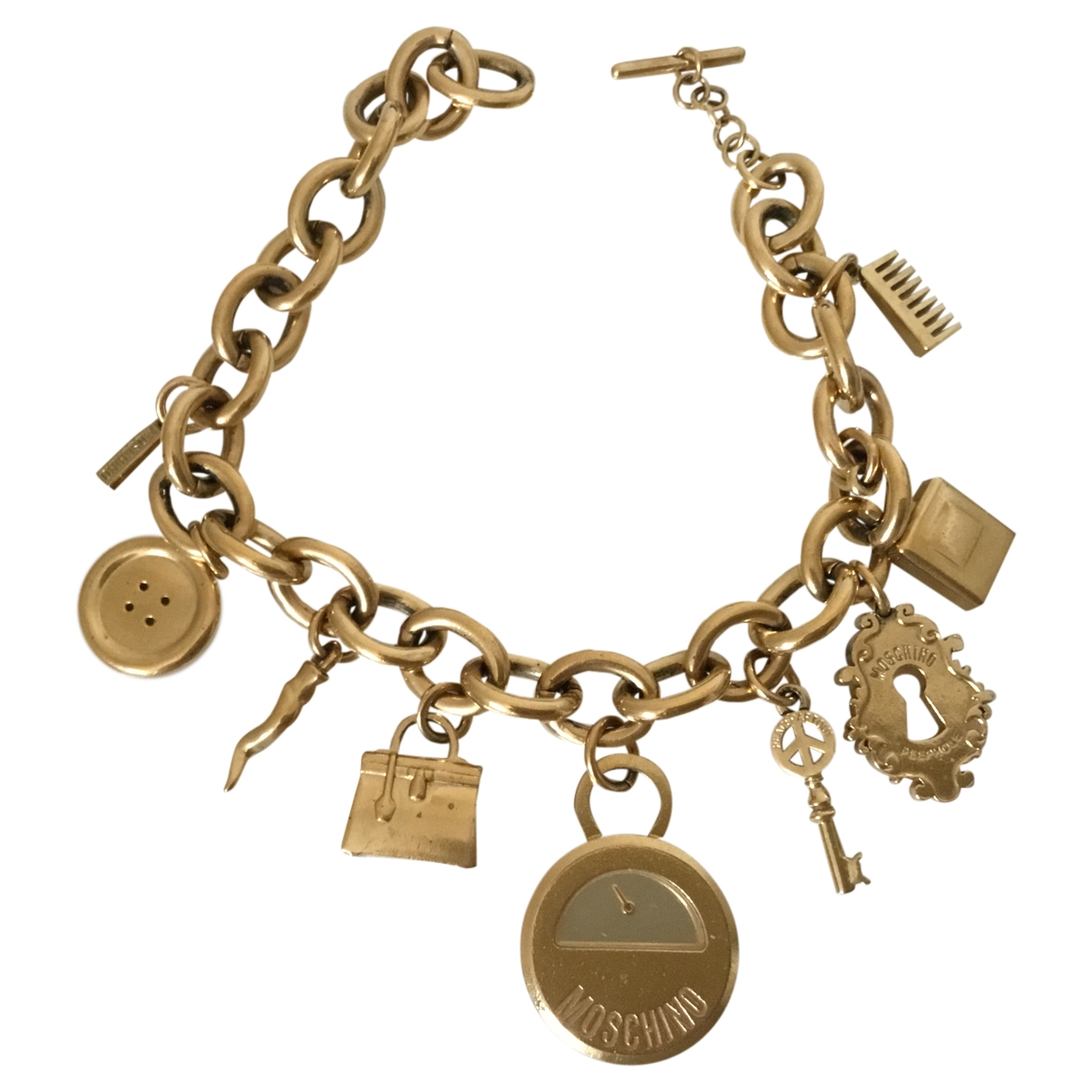 Moschino \N Gold Gold plated watch for Women \N