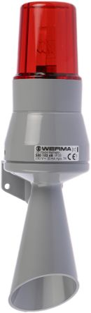 Werma 580 Horn Beacon 92dB, Red Incandescent, 230 V ac