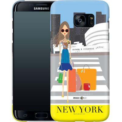 Samsung Galaxy S7 Edge Smartphone Huelle - NEW YORK TRAVEL POSTER von IRMA