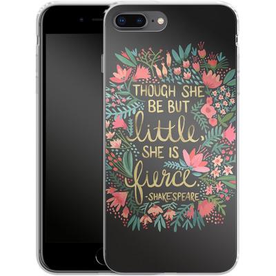 Apple iPhone 8 Plus Silikon Handyhuelle - Little But Fierce Charcoal von Cat Coquillette