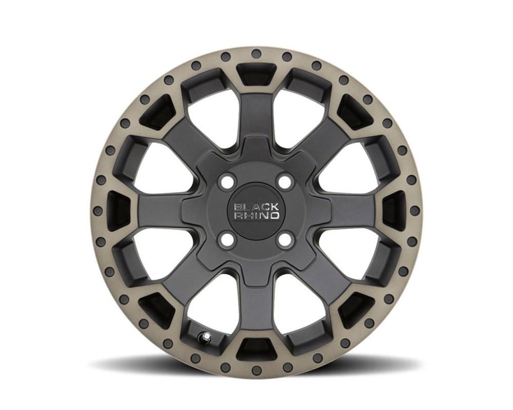 Black Rhino Warlord UTV Matte Black w/ Machined Dark Tint Lip Wheel 15mm x7 4x136 10mm CB110.2