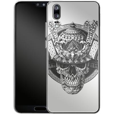 Huawei P20 Silikon Handyhuelle - Samurai Skull von BIOWORKZ