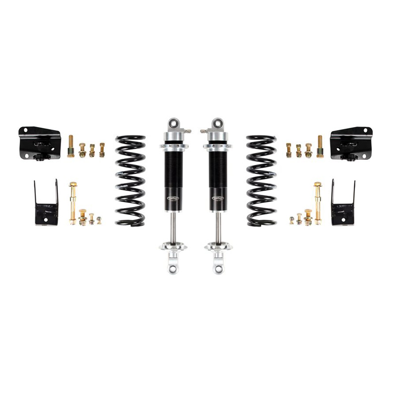Detroit Speed 042412-S 68-72 A-Body Rear Coilover Kit Single Adjustable Shocks Moser Rear Axle
