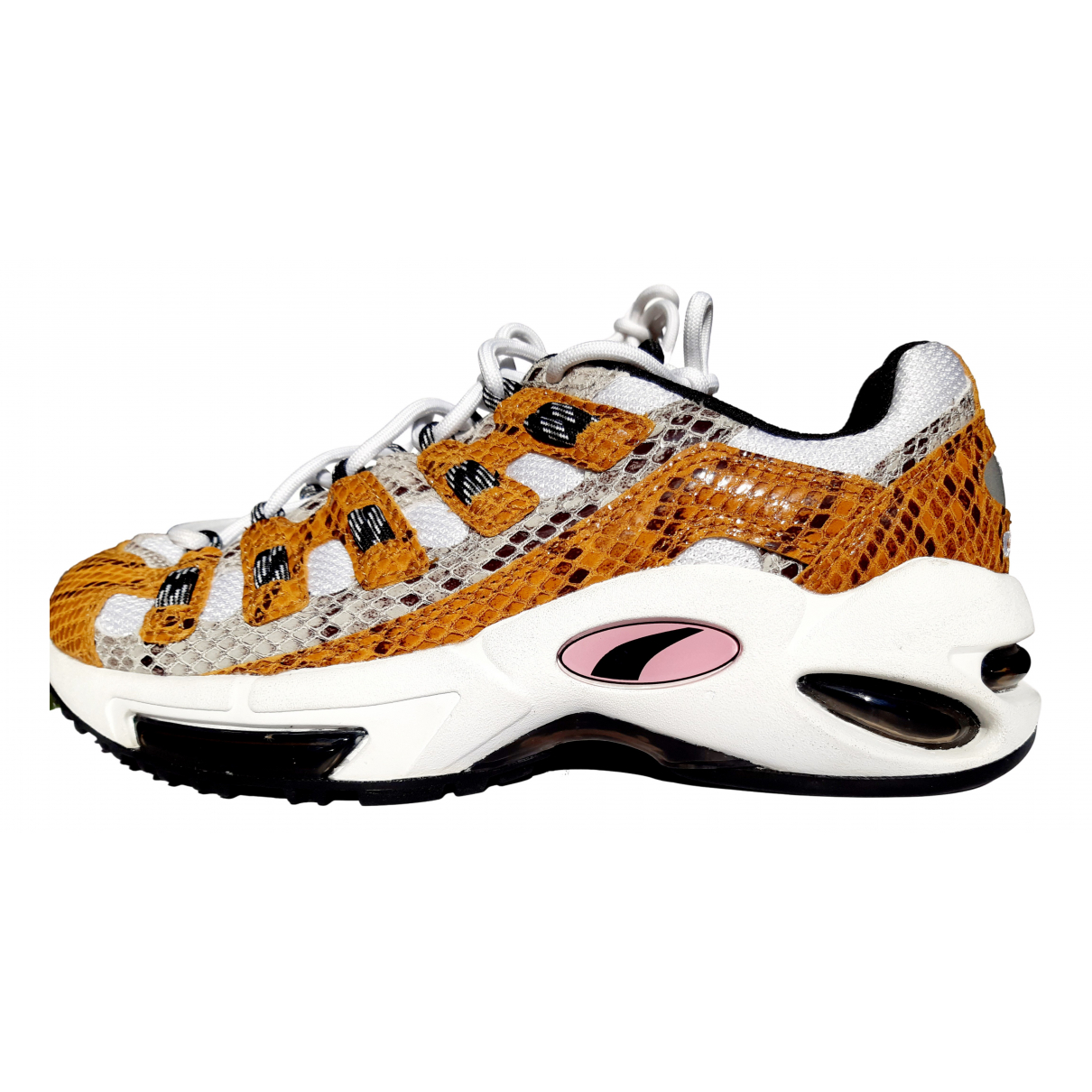 Puma \N Yellow Leather Trainers for Women 39 EU