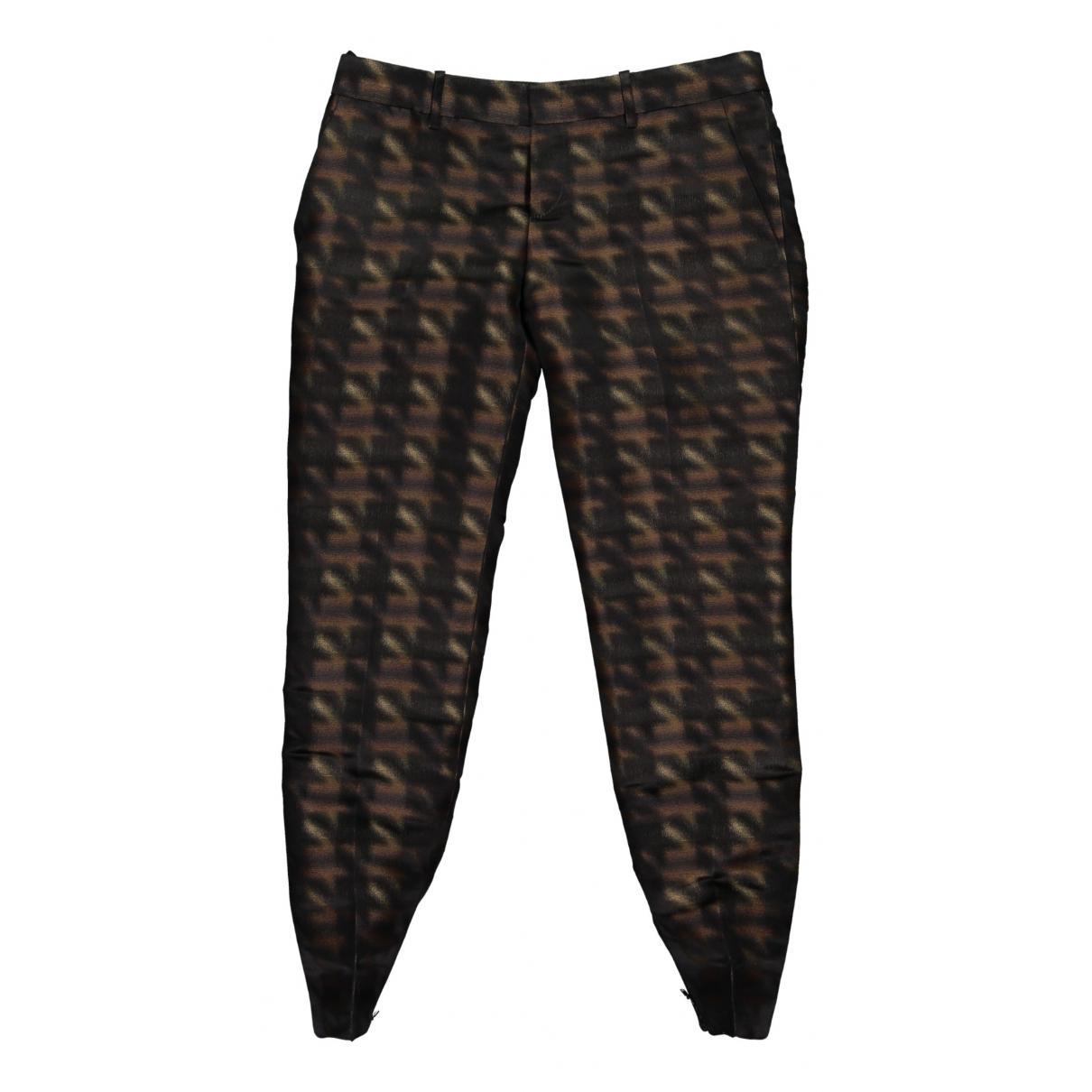 Pantalon recto de Seda Gucci