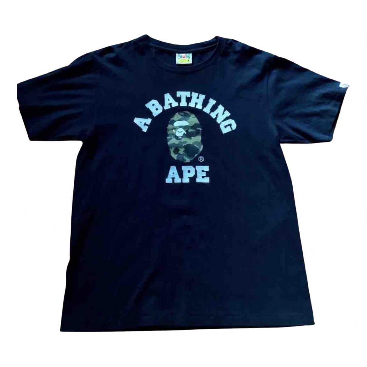 A Bathing Ape \N Black Cotton T-shirts for Men M International
