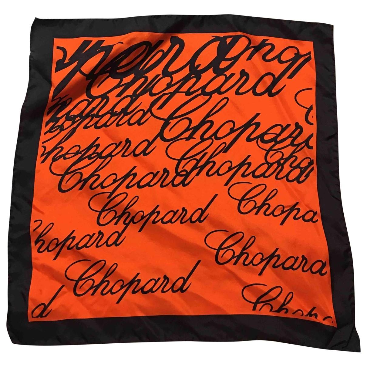 Chopard \N Schal in  Orange Seide