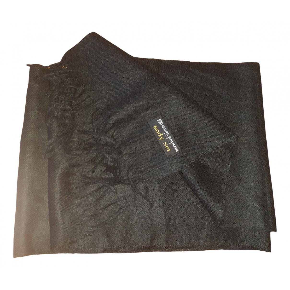 Pierre Balmain \N Black Cotton scarf & pocket squares for Men \N