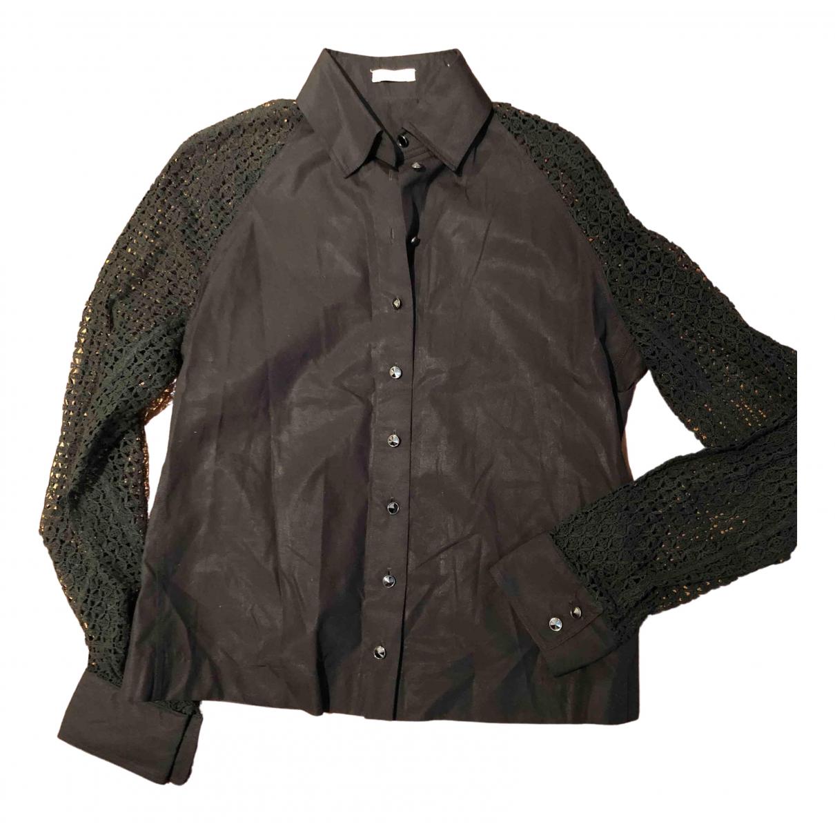 Alaia - Top   pour femme en coton - noir