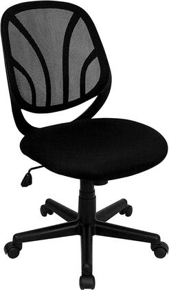 GO-WY-05-GG Y-GO Chair™ Mid-Back Black Mesh Computer Task