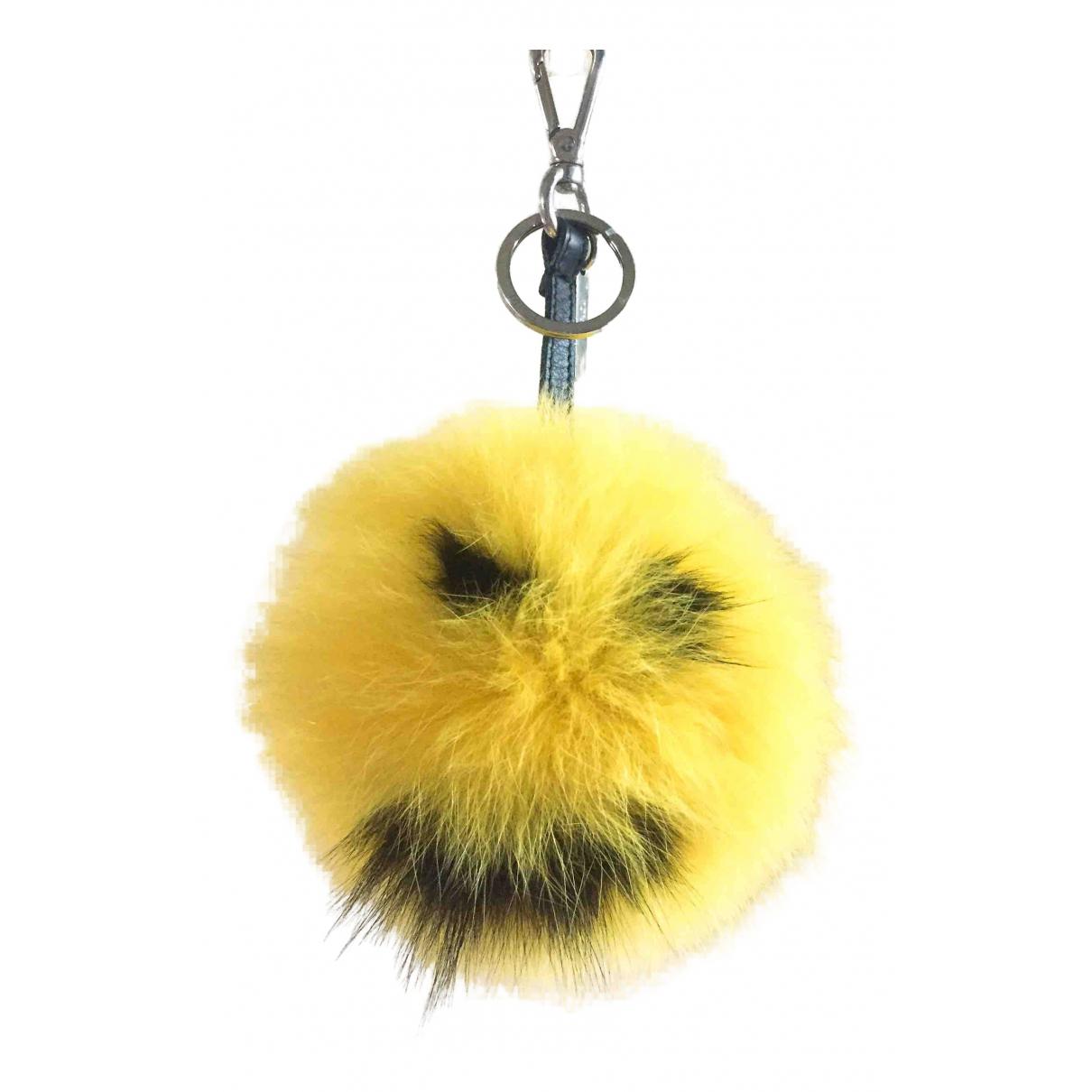 Fendi - Bijoux de sac ABCharm pour femme en renard - jaune