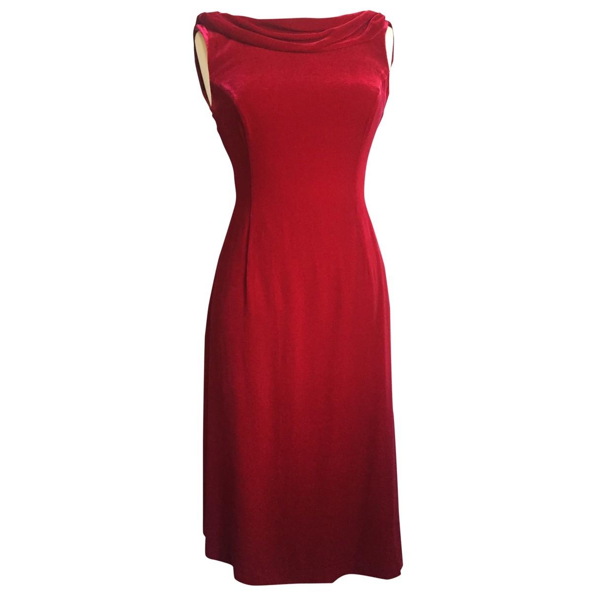 Non Signé / Unsigned \N Red Velvet dress for Women 8 UK