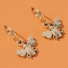 Ohrringe mit metallischem Bienen Dekor