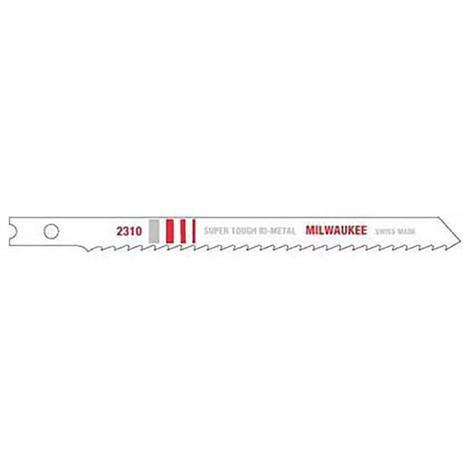 Milwaukee 4-1/8 in. 10 TPI Bi-Metal Jig Saw Blade (5 Pack)