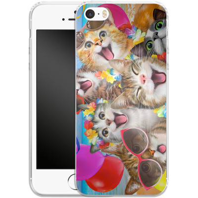 Apple iPhone 5 Silikon Handyhuelle - Selfie Luau von Howard Robinson