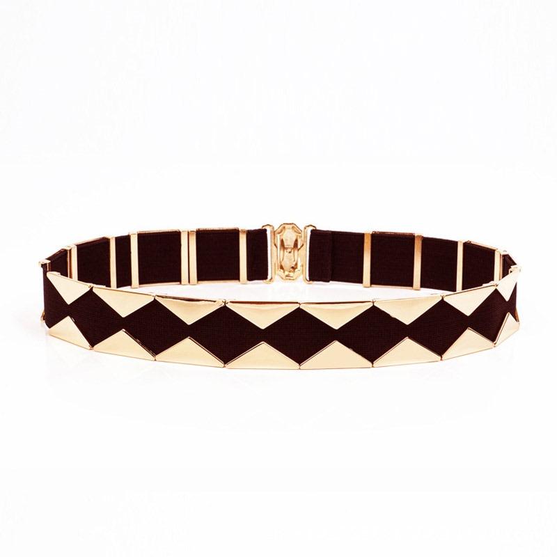 Ericdress Fashion Color Block Metal Belt
