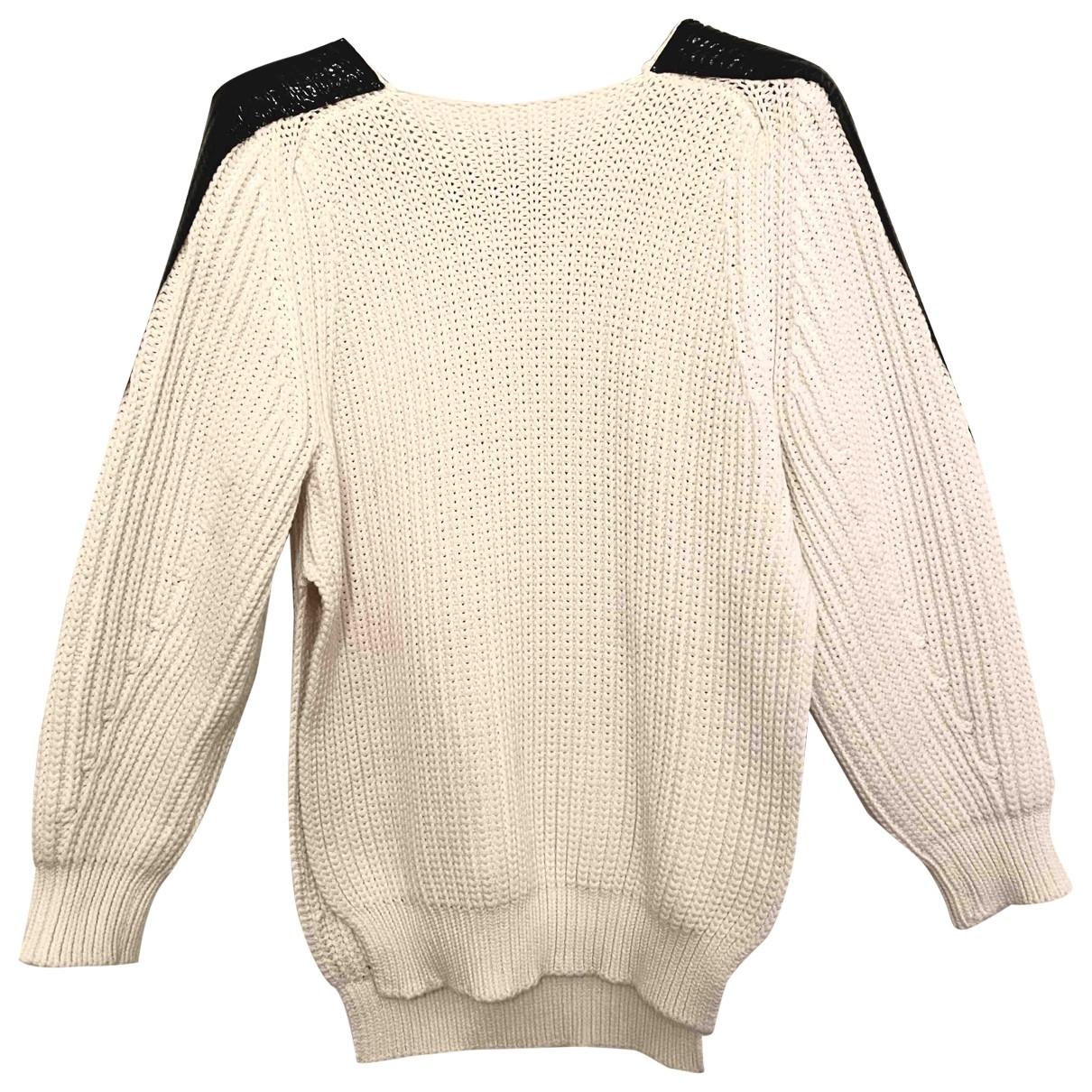 Sport Max - Pull   pour femme en coton - blanc