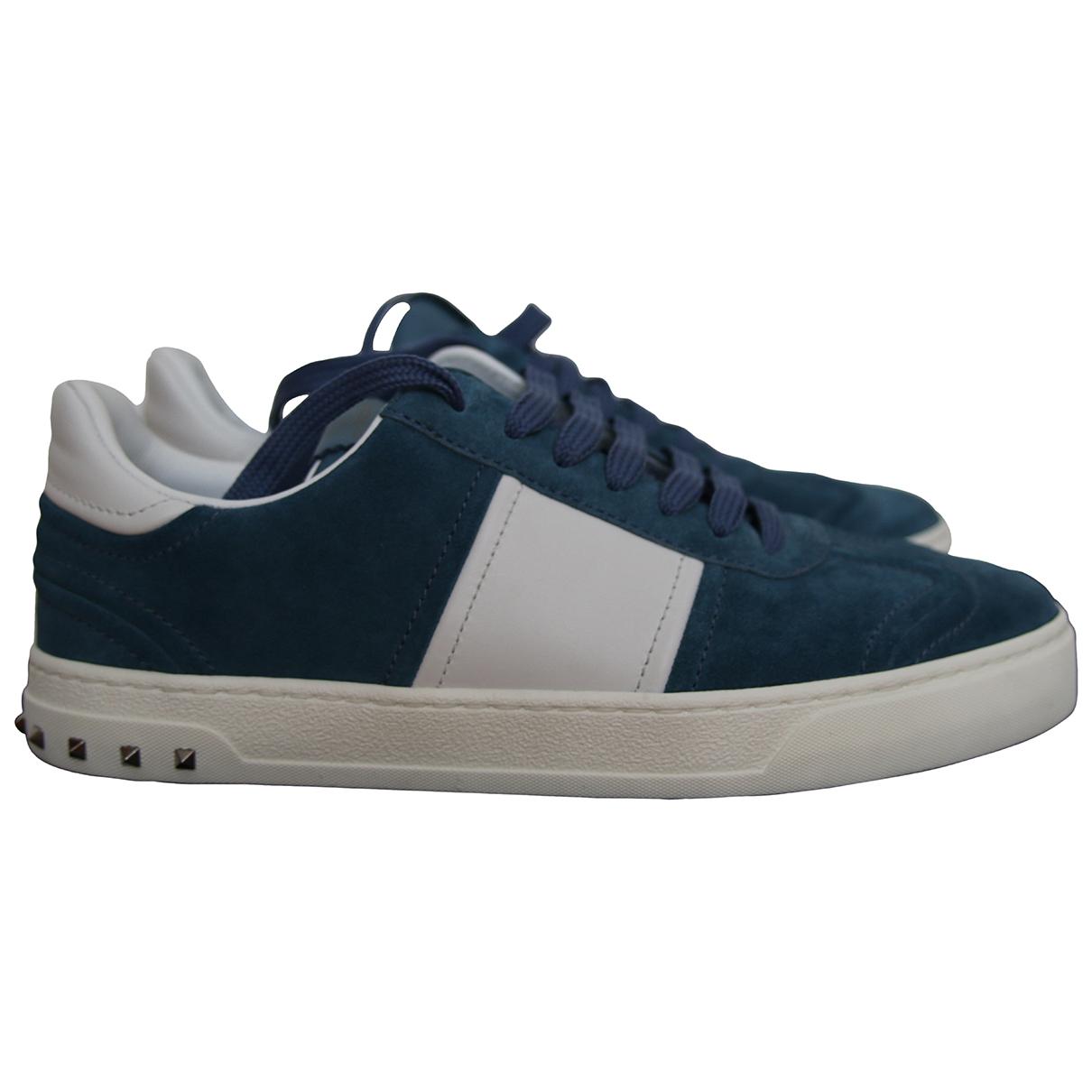 Valentino Garavani - Baskets   pour homme en suede - bleu