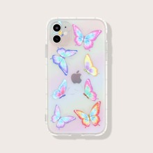 Butterfly Print Clear iPhone Case
