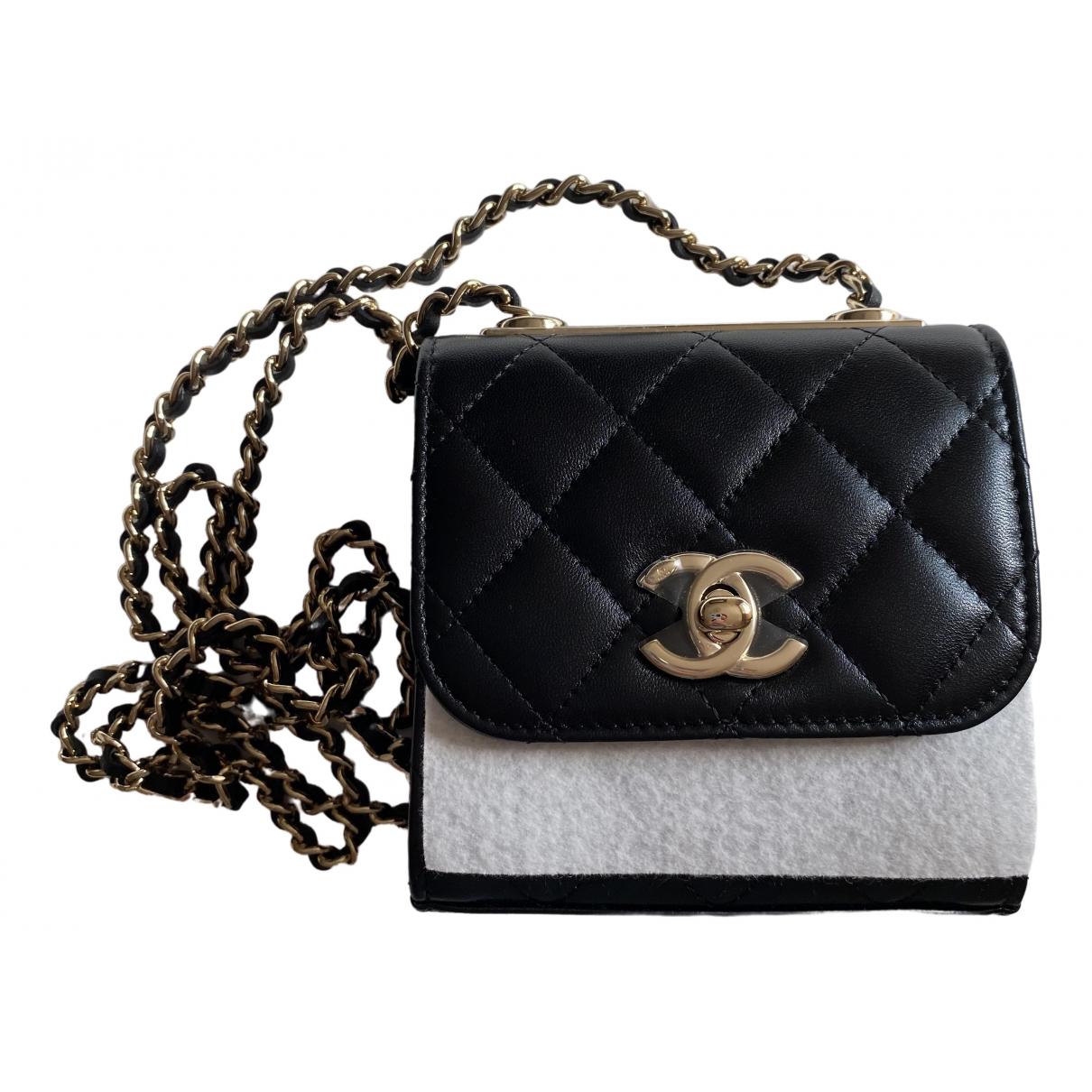 Chanel Trendy CC Handtasche in  Schwarz Leder