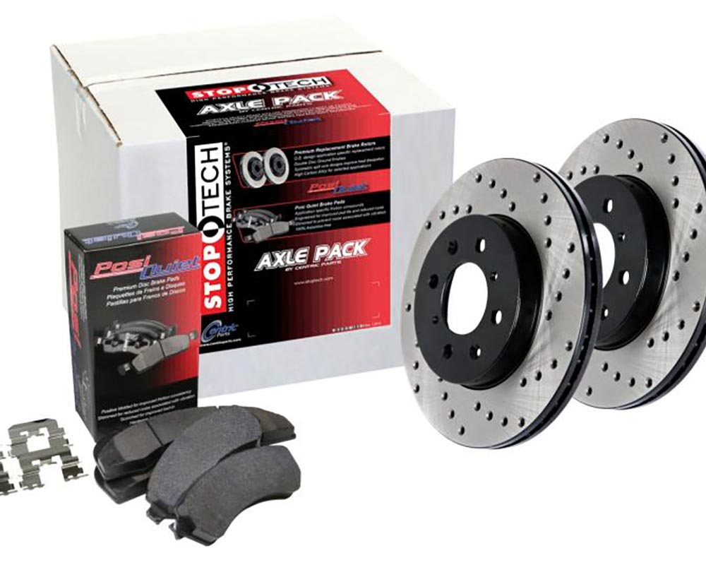 StopTech 936.3302 Street Axle Pack Drilled 4 Wheel Brake Kit Audi 80 Front and Rear 1988