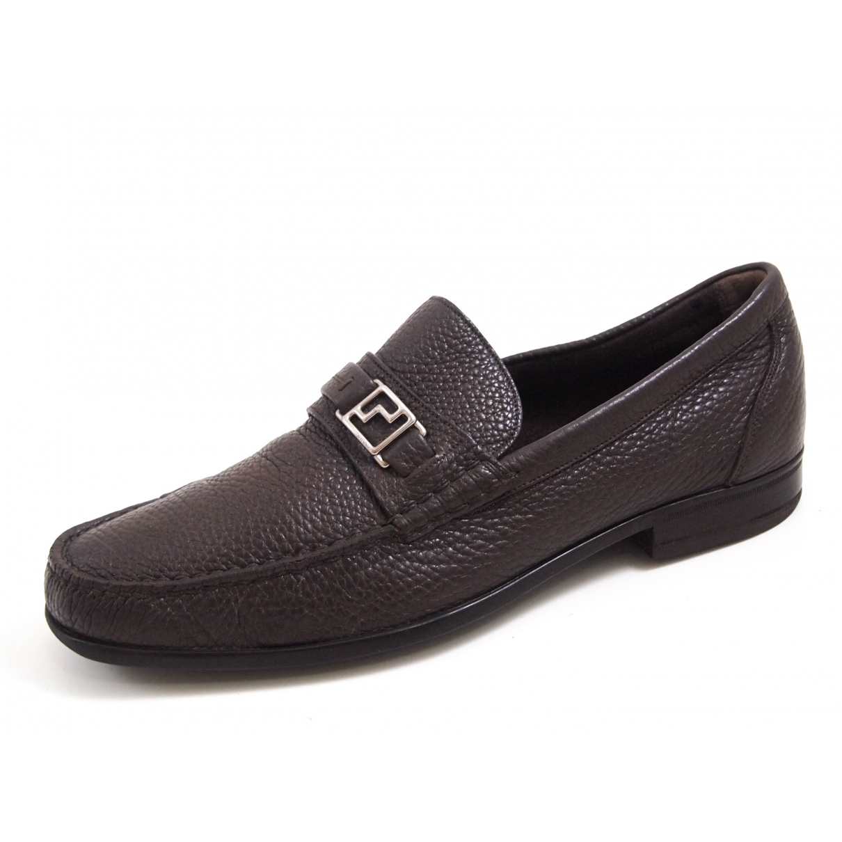 Bally \N Brown Leather Flats for Men 42 EU