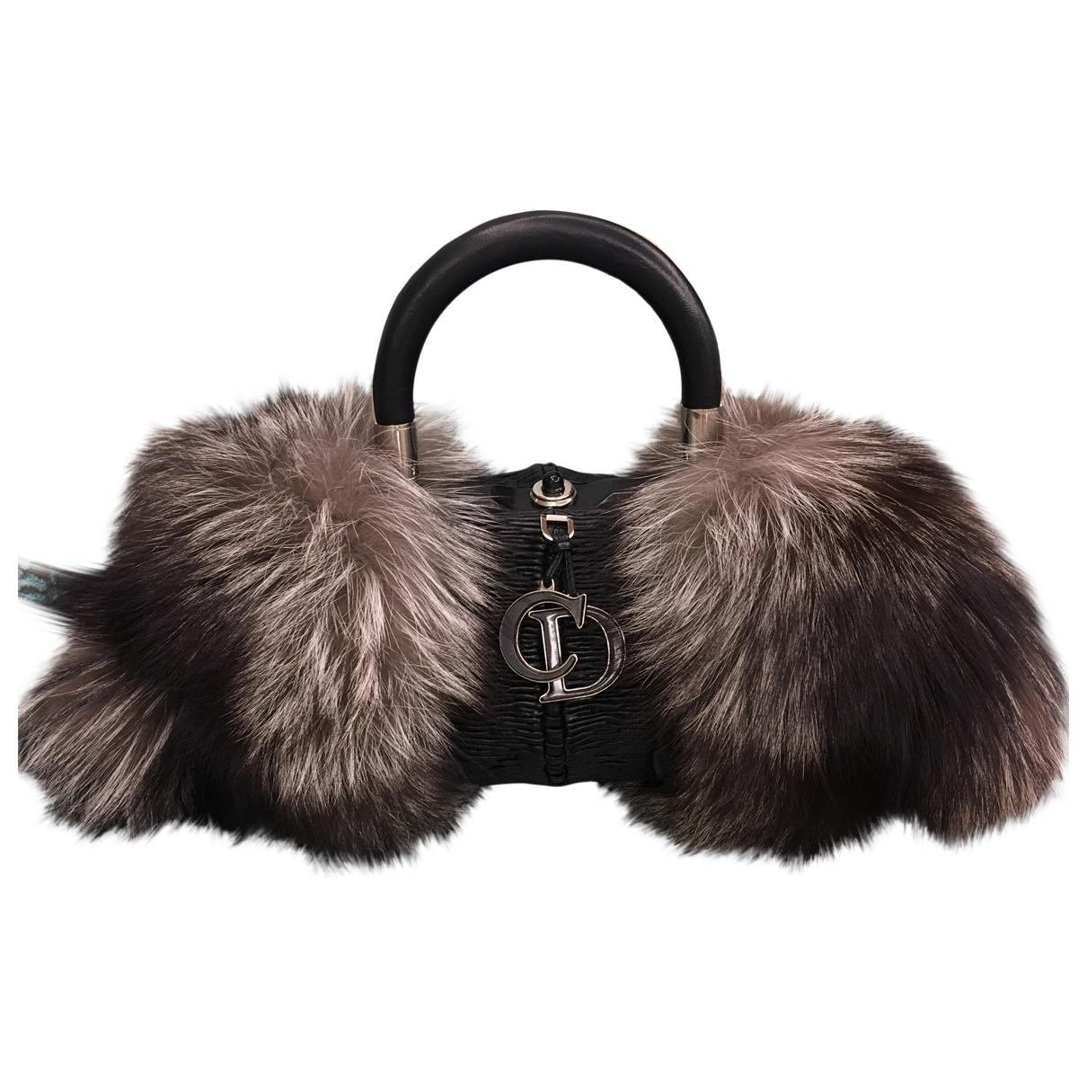Dior \N Black Fox handbag for Women \N