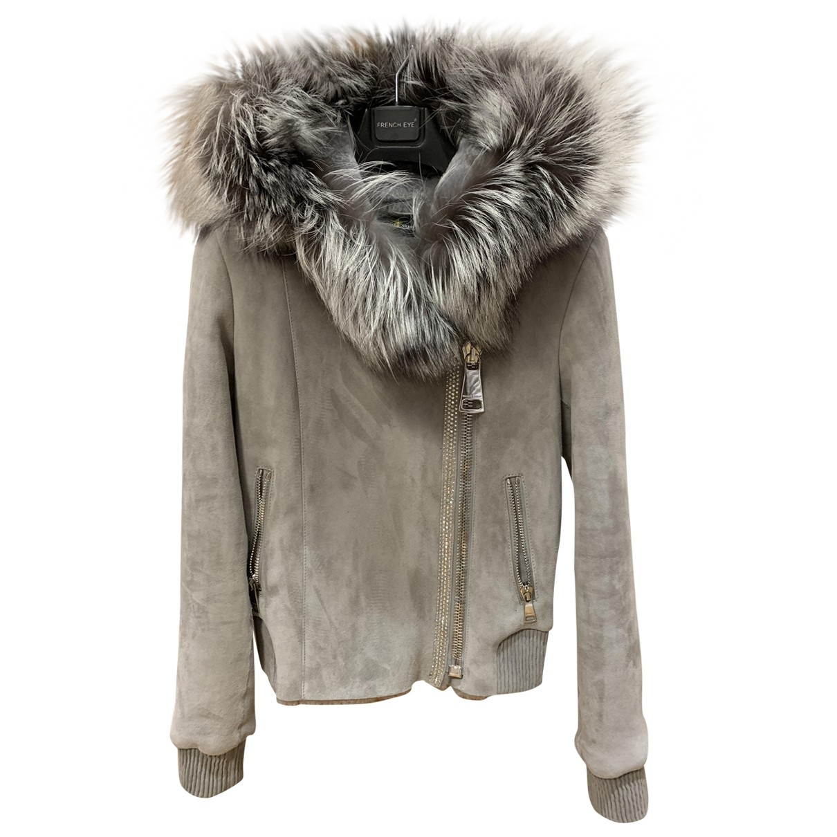 Non Signé / Unsigned \N Grey Shearling jacket for Women XS International