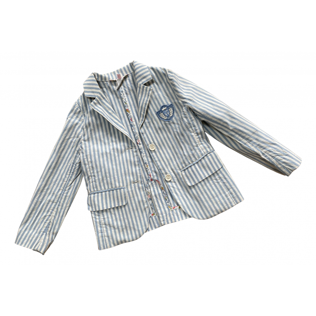 Bonpoint N Blue Cotton jacket & coat for Kids 6 years - up to 114cm FR