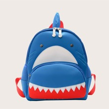 Mochila de niños con diseño de tiburon de dibujos animados