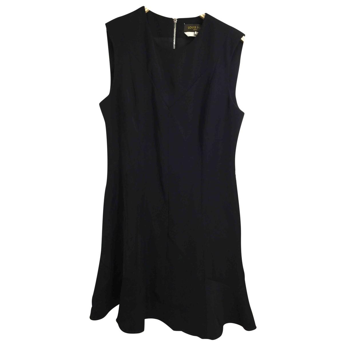 Louis Vuitton \N Kleid in  Schwarz Polyester
