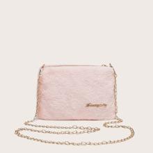 Fluffy Chain Crossbody Bag